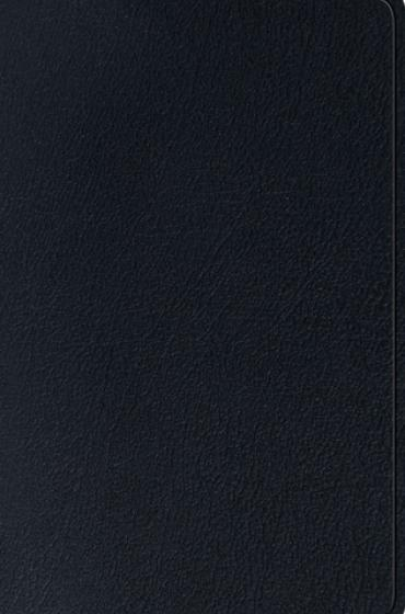 ESV Single Column Thinline Bible Genuine Leather, Black