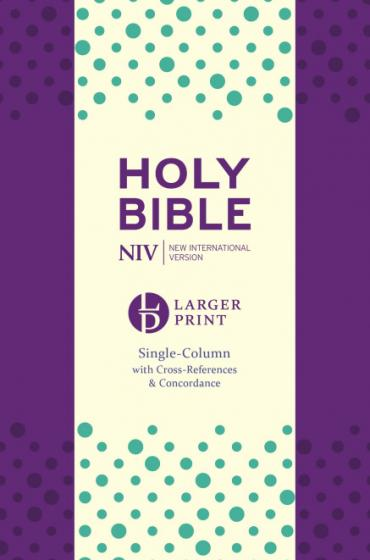 NIV Larger Print Compact Single Column Reference Bible Purple