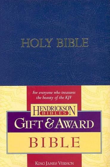 KJV Gift & Award Bible- Blue